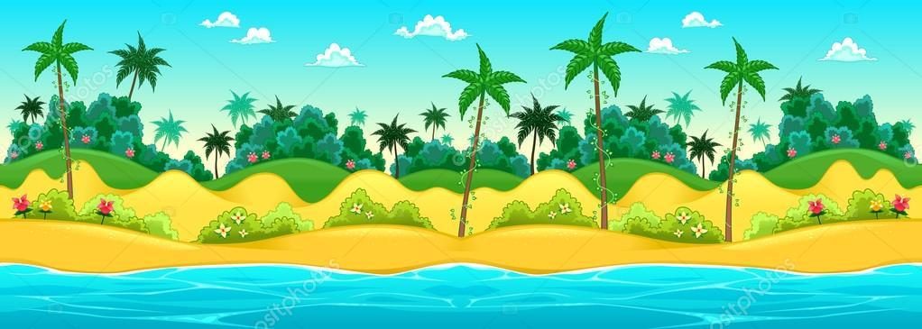 Landscape on the seashore