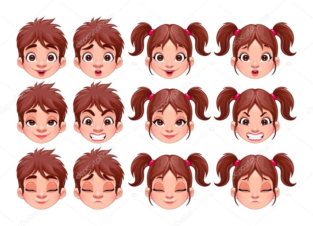 Áˆ Facial Expression Cartoon Stock Animated Royalty Free Face Expressions Cartoon Images Download On Depositphotos
