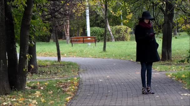 Autumn Park. Track. He and she