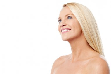 Woman with clean healthy skin