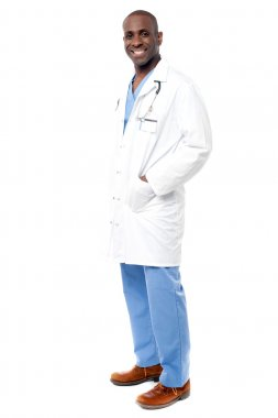 Doctor standing with stethoscope