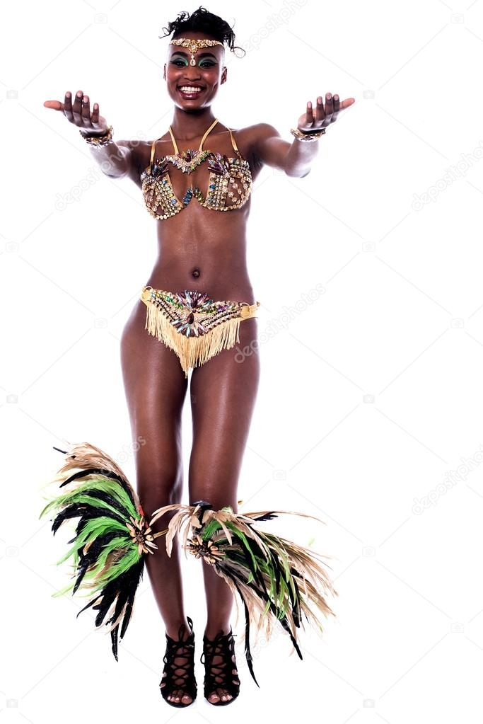 african woman in a carnival costume
