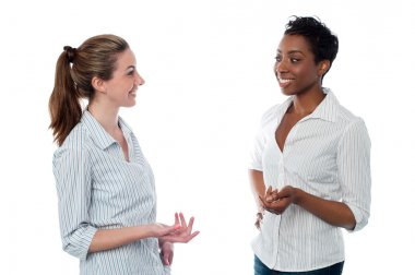 Women talking to each other