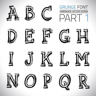 Grunge Hand Made Vector Font