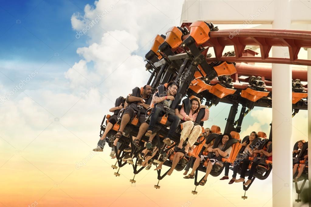 BANGKOK, THAILAND-Oct 26: The Dream world, roller coaster on Oct 26, 2014, BANGKOK, THAILAND