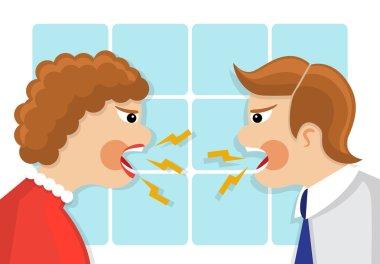 family quarrel and conflict.