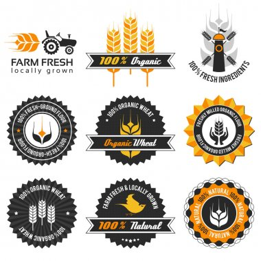 Wheat production label set
