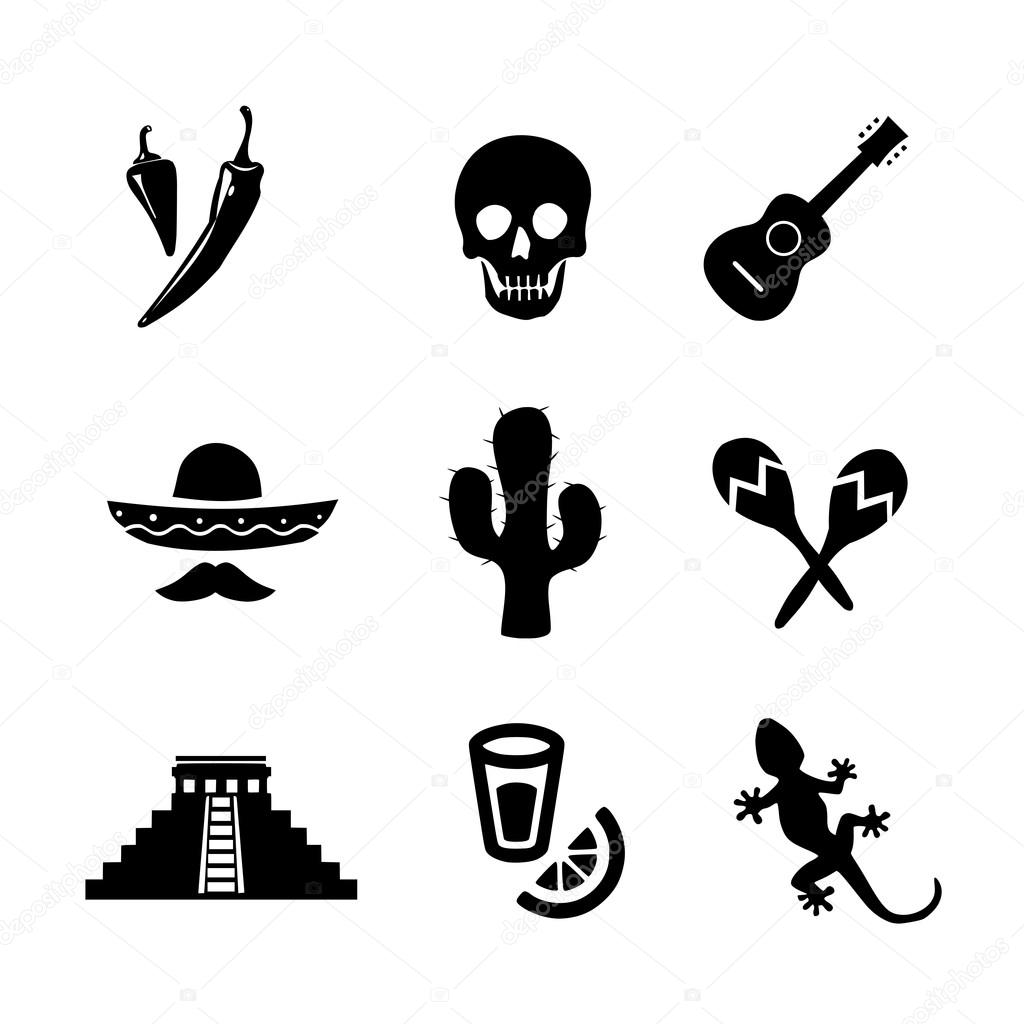 Mexican Icon Set Vector Stock Vector Mrswilkins 120192454