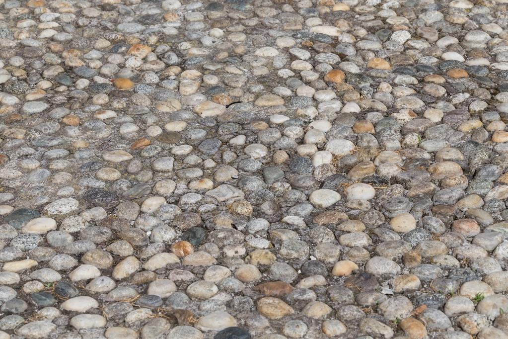 Round Stones In The Ground Texture Of Cobblestones Park Paved Road For Pedestrians Paving Background Photo By Romantsubin