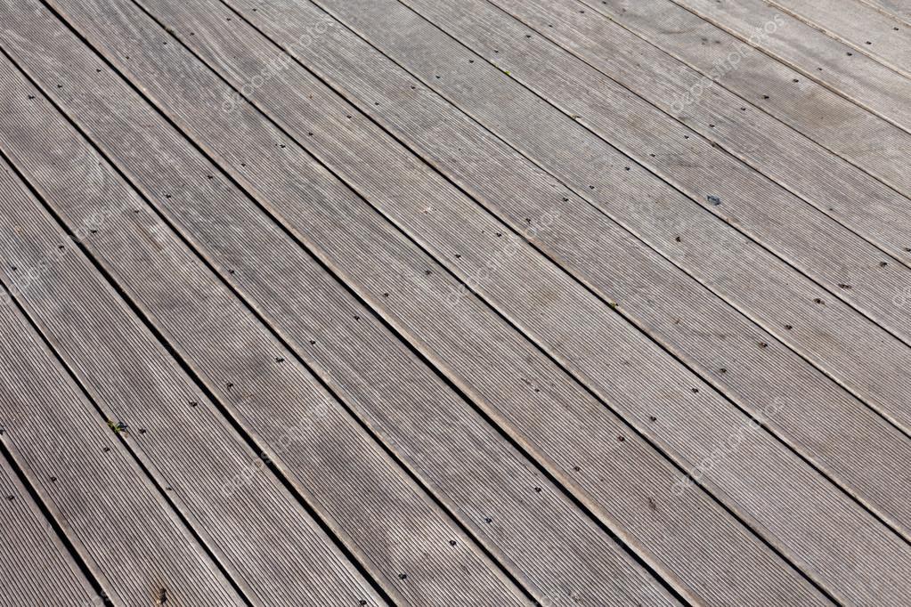 Pavimento In Legno Per Esterni Foto Stock Romantsubin
