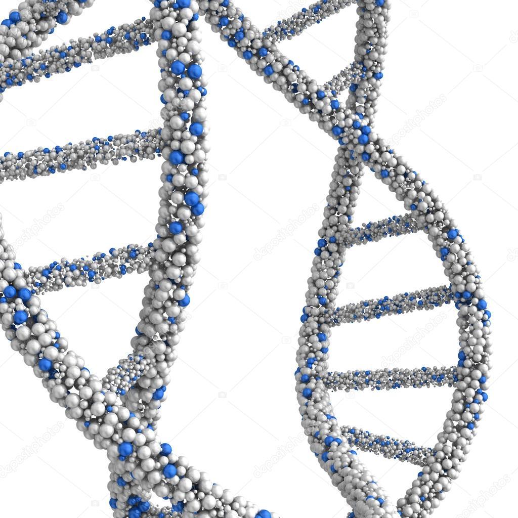 Las Moléculas De Adn Estructura Combinada En Forma De Granos
