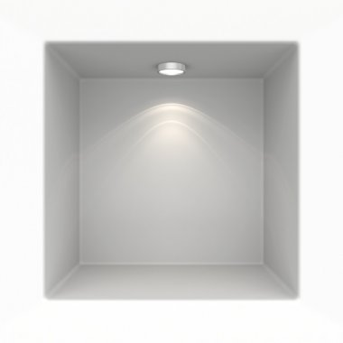 Niche in the wall with light sources.