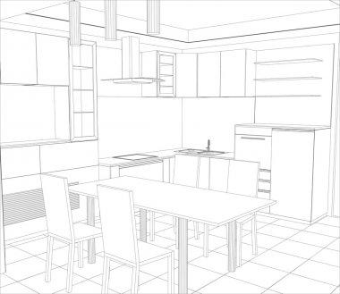 Kitchen 3d Premium Vector Download For Commercial Use Format Eps Cdr Ai Svg Vector Illustration Graphic Art Design