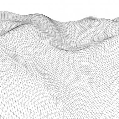 Abstract wire-frame grid. Vector illustration.