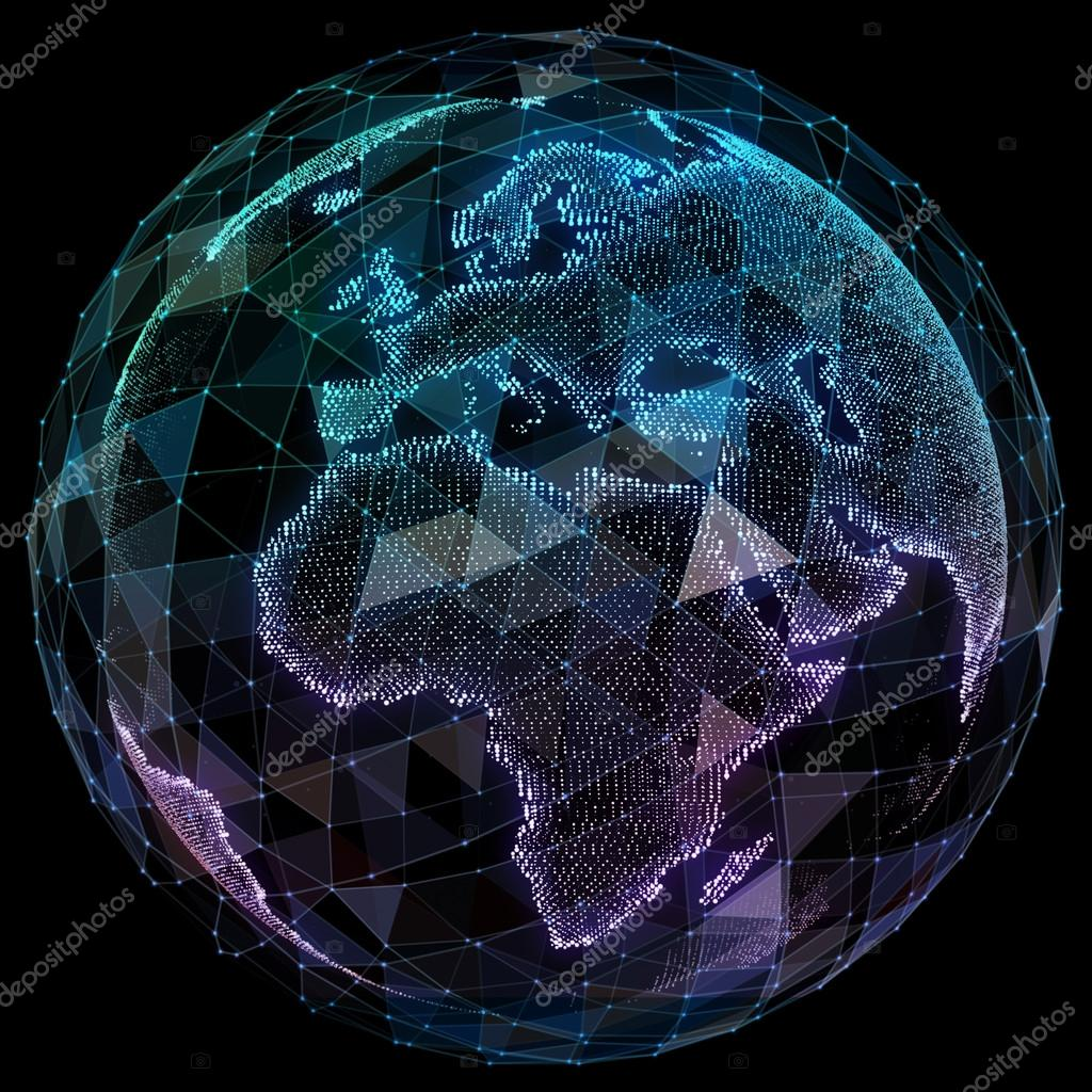 Global network internet technologies digital world map stock global network internet technologies digital world map stock photo gumiabroncs Gallery