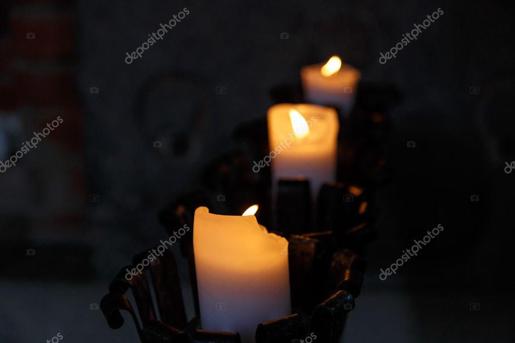 Candle Light On Dark Background Stock Photo C Niglaynike 82931148