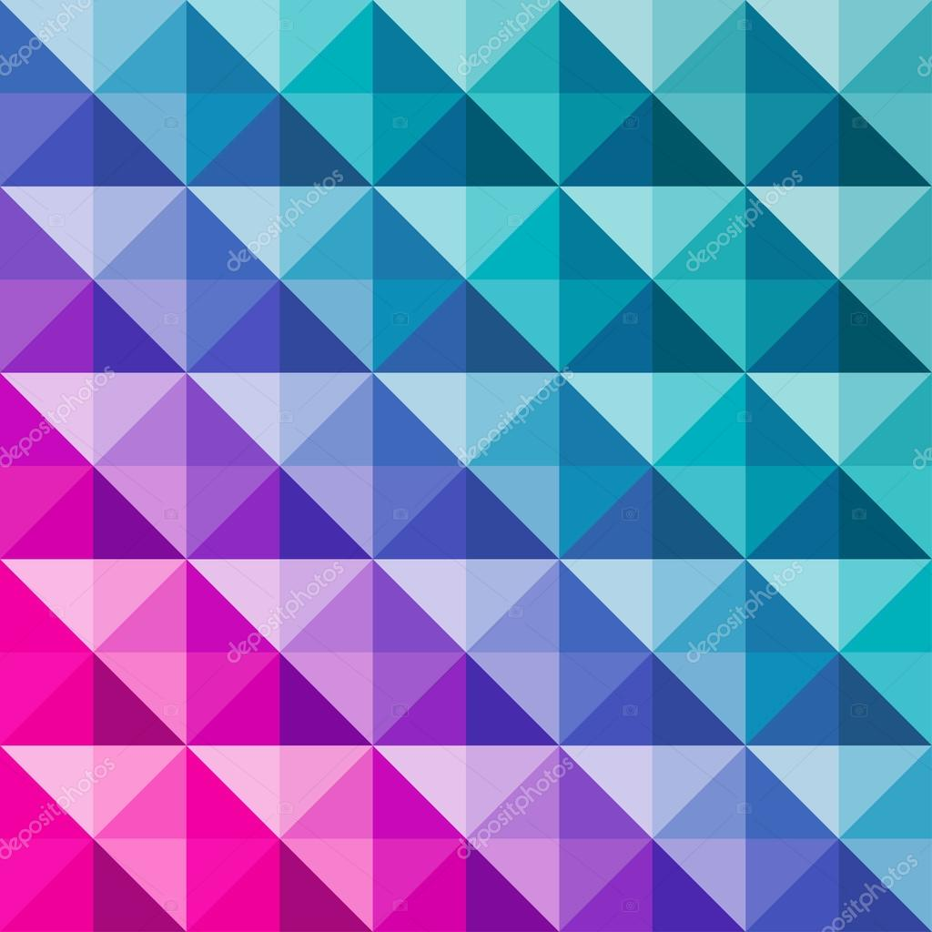 Abstract Vector Background Of Colorful Triangles Geometric Pattern Mosaic