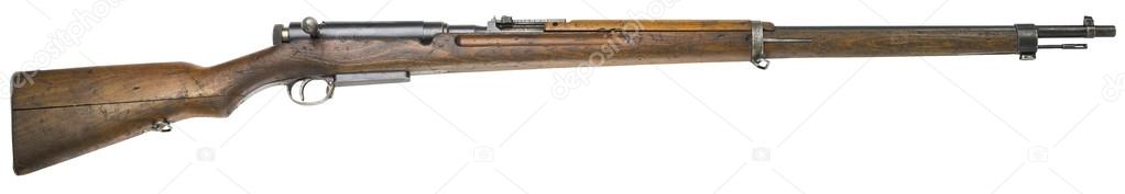 Rifle guns on a white background Russian weapons
