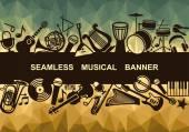 Varrat nélküli zenei banner