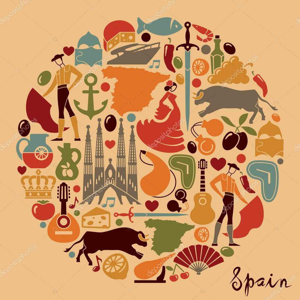 Traditional symbols of spain stock vector abdurahman 96007116 traditional symbols of spain stock vector buycottarizona Images