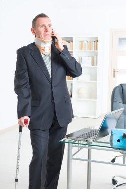 Sick businessman at work
