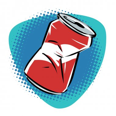Crushed junk can
