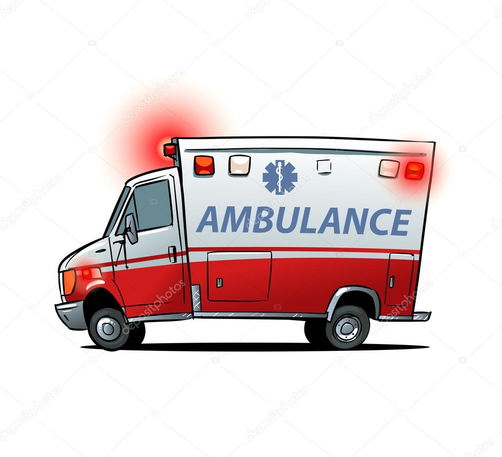 Cartoon Ambulance Car Isolated Stock Vector C Natashin 83058910