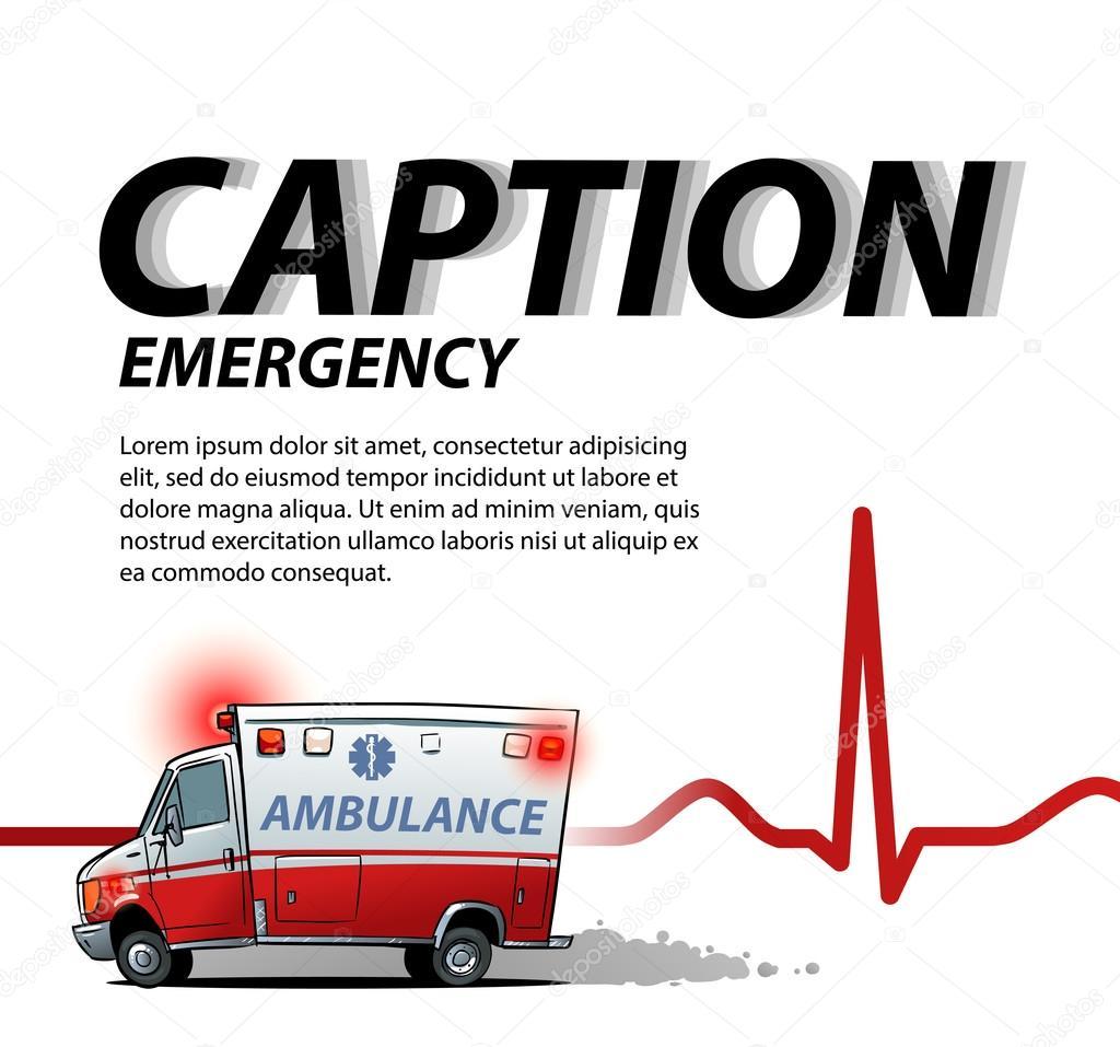 plantilla para presentación con ambulancia, el coche — Vector de ...