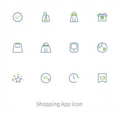 Online Shopping - thin linear vector icon set. The set contains icons such as Shopping icon