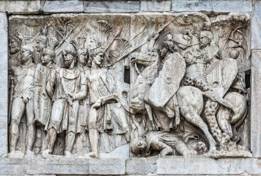 Architectonic detail of arch of Constantine in Rome