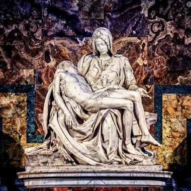 Pieta marble sculpture