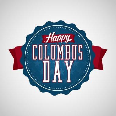 Happy Columbus Day  Badge