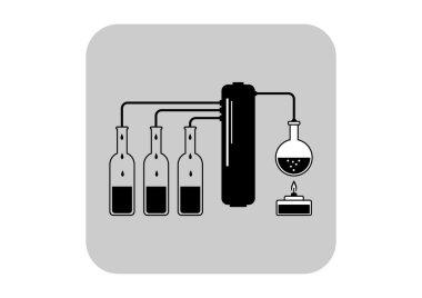 Distillation kit vector icon
