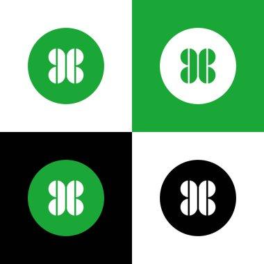 Initial CC clover logo design, circle shape icon icon