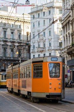 Milan (Milano), old historic orange tram