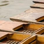 Cambridge, England, wooden boats (punts) Стоковое Фото