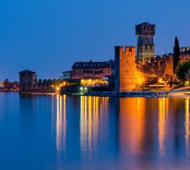 Lake Garda (Lago di Garda), Sirmione at blue hour