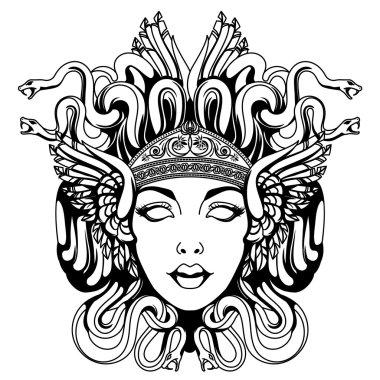 Medusa Vector Free Vector Eps Cdr Ai Svg Vector Illustration Graphic Art