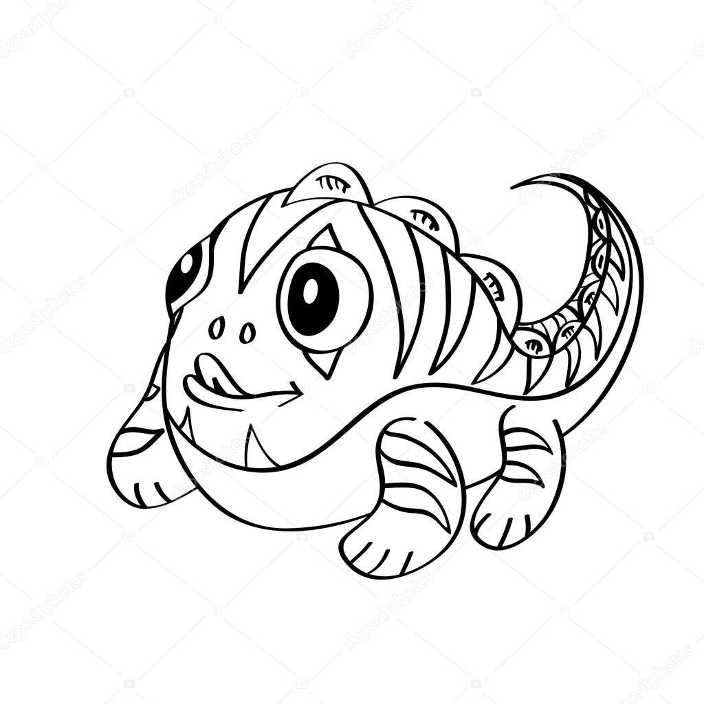 Malbuch: süße kleine Monster — Stockvektor © BlackSpring1 #54027257