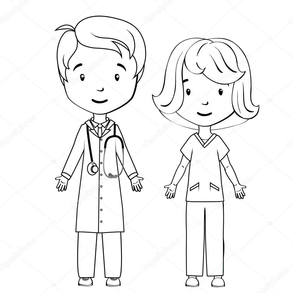 Dibujos Dibujo De Enfermera Para Colorear Libro Para