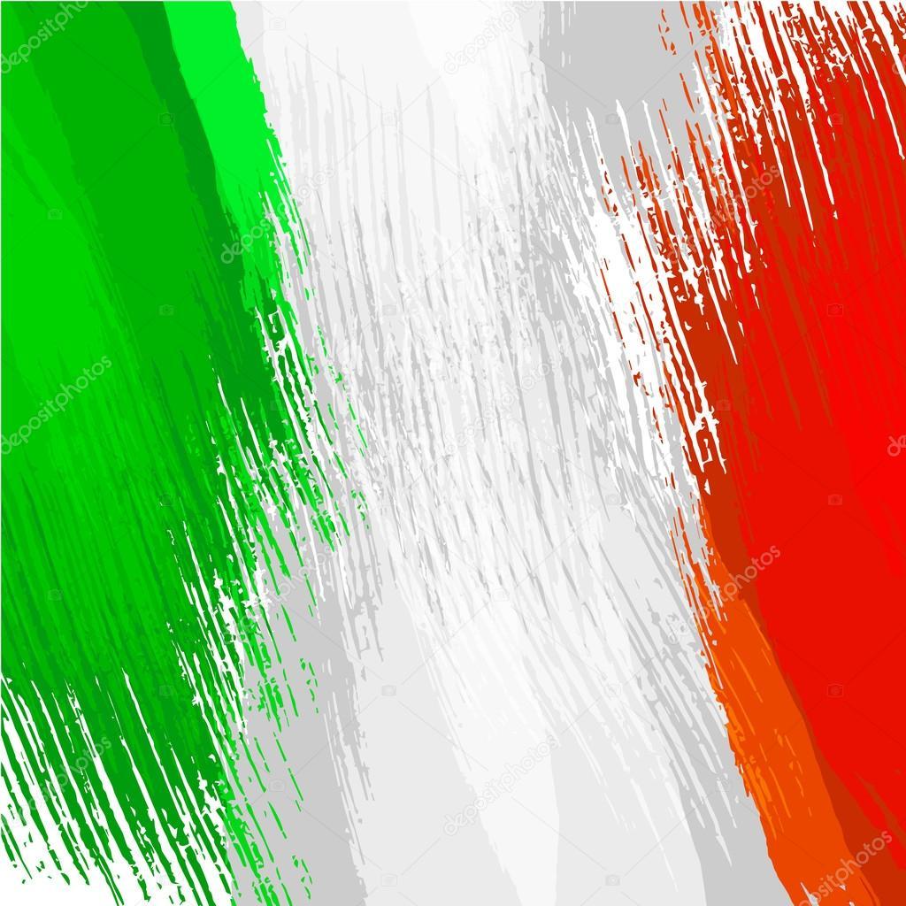 1cd02e51f20b6 Fundo de grunge nas cores da bandeira italiana — Vetor de Stock ...