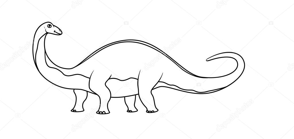 Boyama Kitabı Dinozor Stok Vektör Blackspring1 84377242