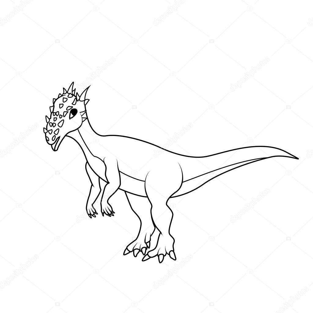Libro para colorear: dinosaurios de dracorex — Archivo Imágenes ...