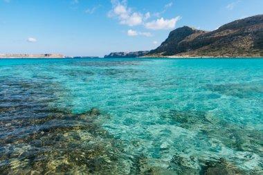 Blue lagoon on Crete island