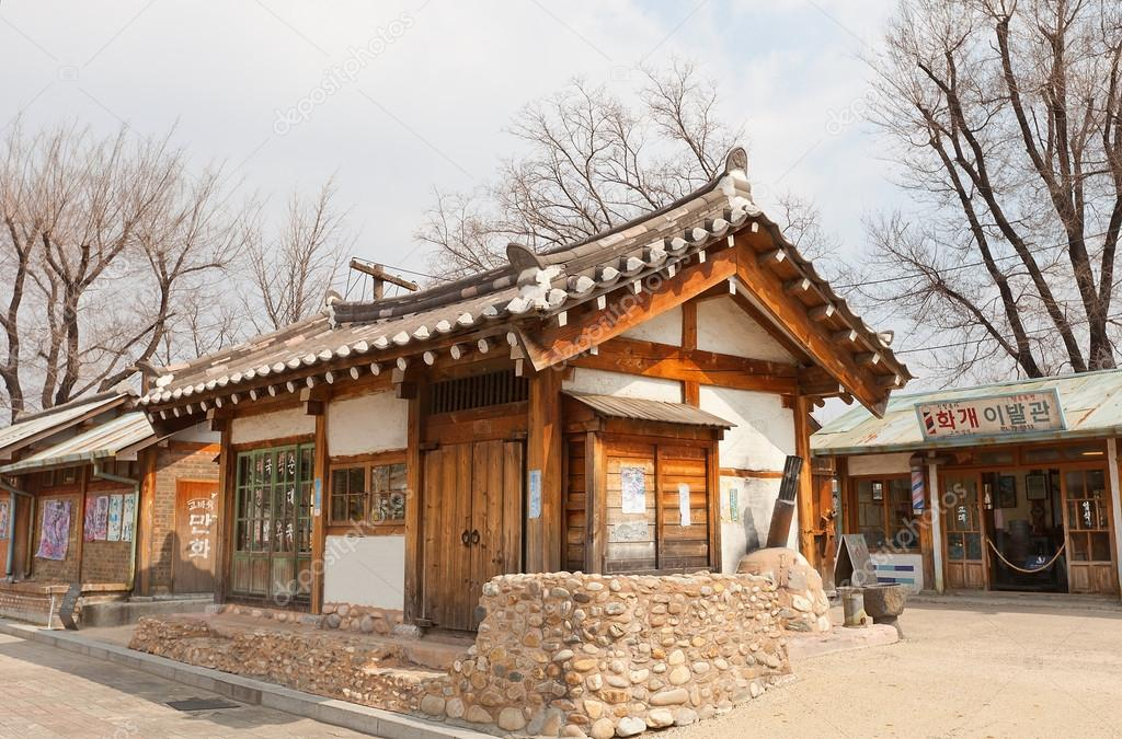 SEOUL, SOUTH KOREA   MARCH 14, 2016: Reconstructed Traditional Korean House  (shop, Circa 1970s) In Seoul, Korea. Part Of The Street Of The Past In  National ...
