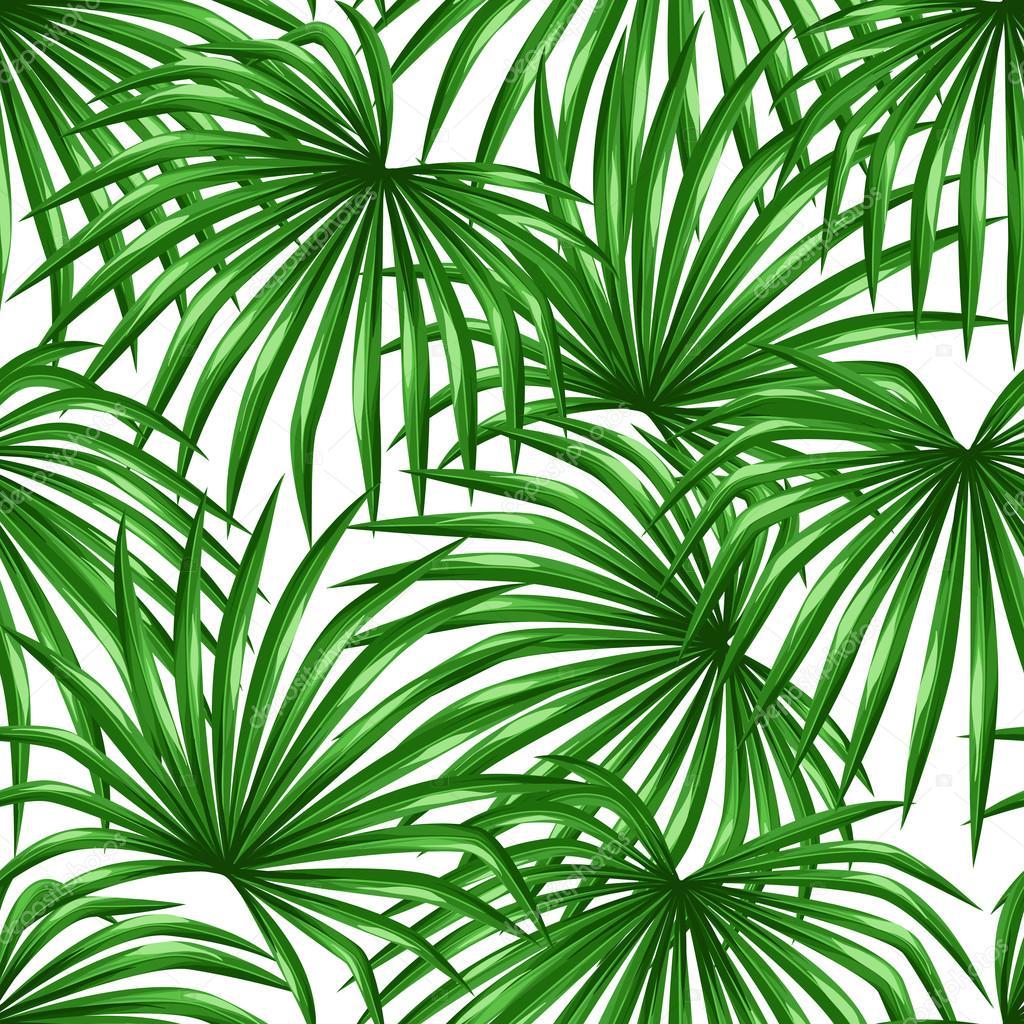Nahtlose Muster Mit Palmen Blatter Dekorative Bild Tropischen