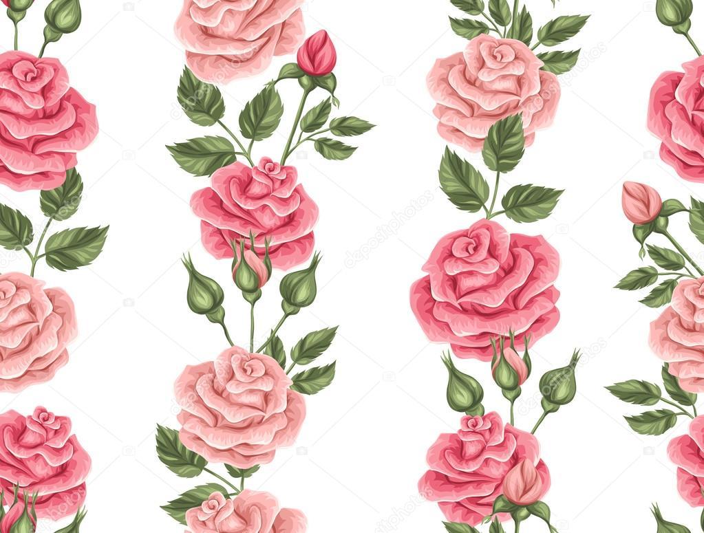 Fotos Flores Y Rosas Para Descargar Patrón Transparente Con Rosas