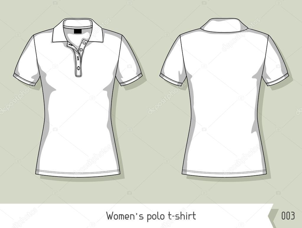 Polo de mujer t-shirt. Plantilla de diseño, fácilmente editable por ...