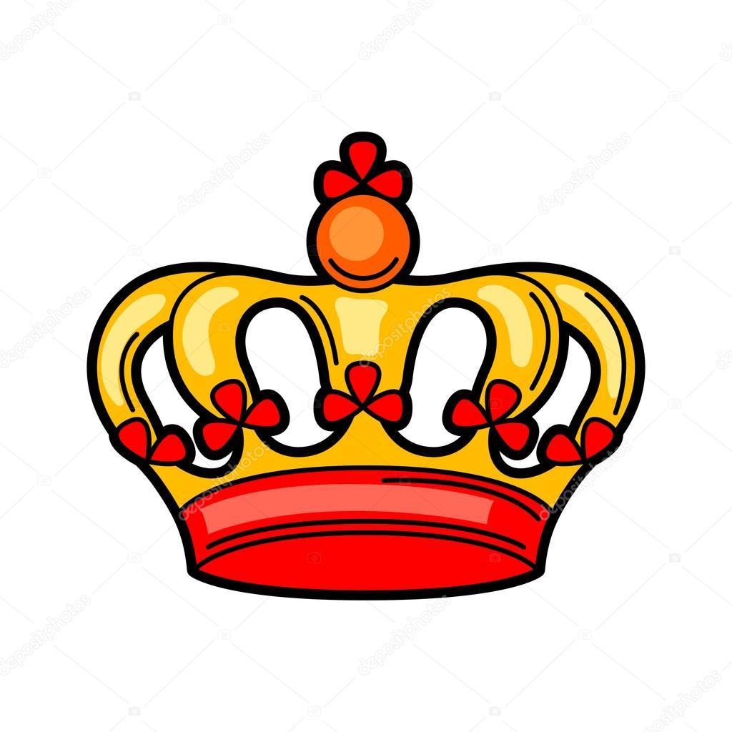 Stock Illustration Crown Retro Tattoo Symbol Cartoon on Queen Clip Art