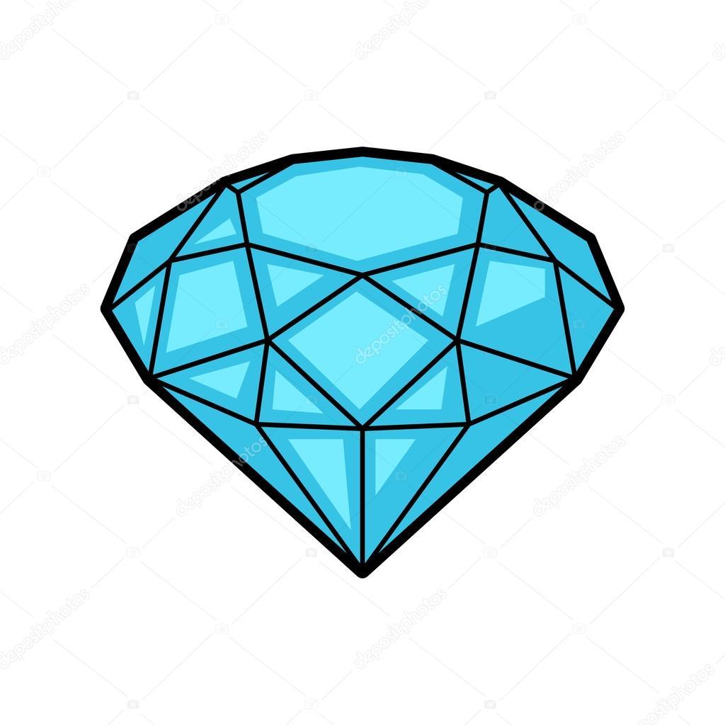Diamond Retro Tattoo Symbol Cartoon Old School Illustration